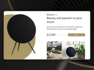 Daily UI - Beoplay A9