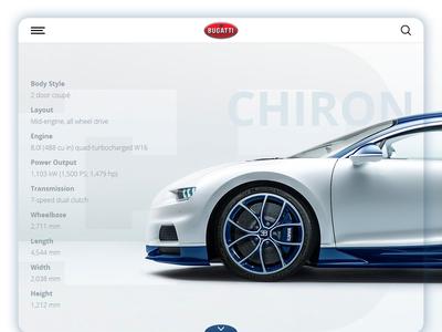 Daily UI - Bugatti Chiron Stats