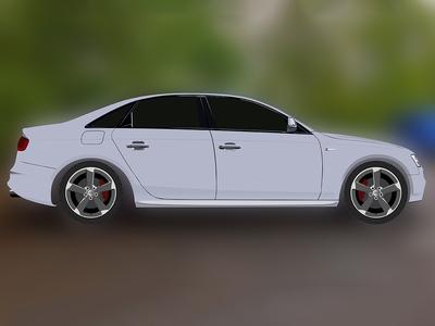 Audi S4 in Photoshop