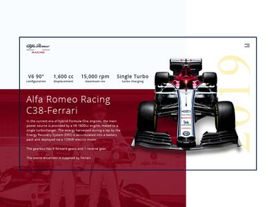 Daily UI - Alfa Romeo Sauber 2