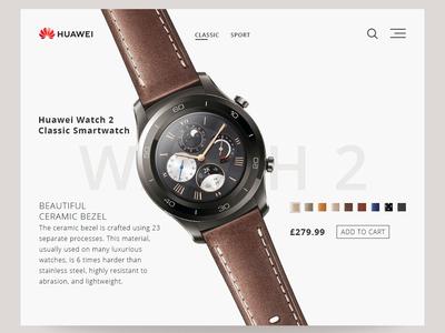 Daily UI - Huawei Watch2