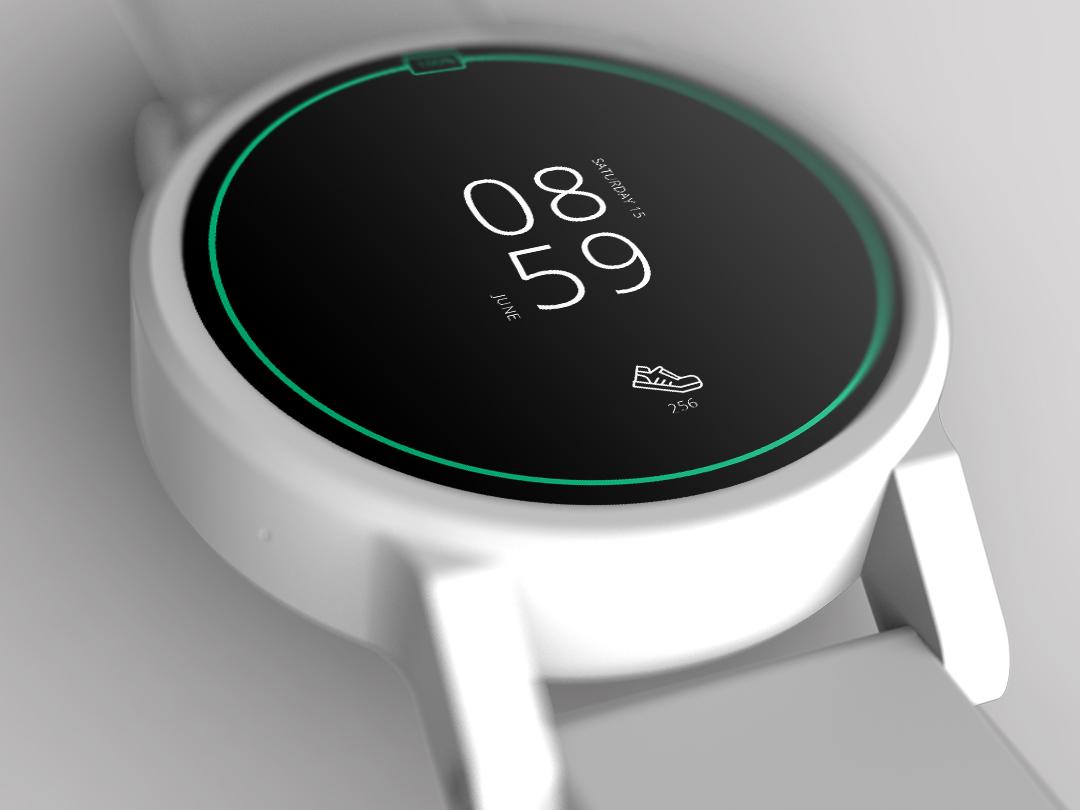 Smart Watch Face - Simple watchface smartwatch dailyui