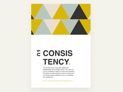 Company poster - Consistency