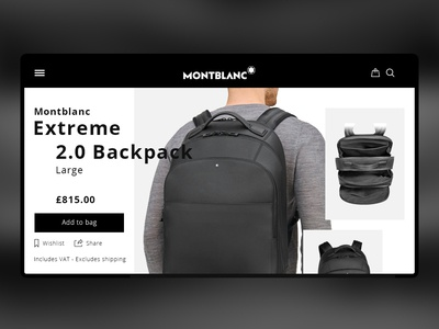 Daily UI - Montblanc Backpack