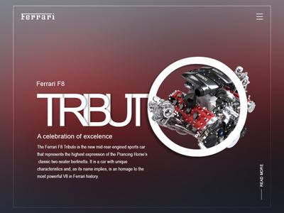 Daily UI - Ferrari F8 Tributo