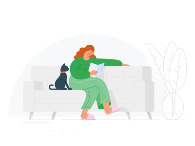 Google Health - Stay at home isolation lockdown sickness sick material design material illustration stay at home pandemic pandemia virus covid 19 covid-19 covid19 covid google
