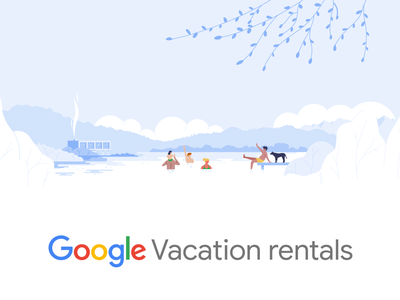 Google Vacation rentals design holidays holiday vacation rentals vacation vector branding google trips material design travel google illustration