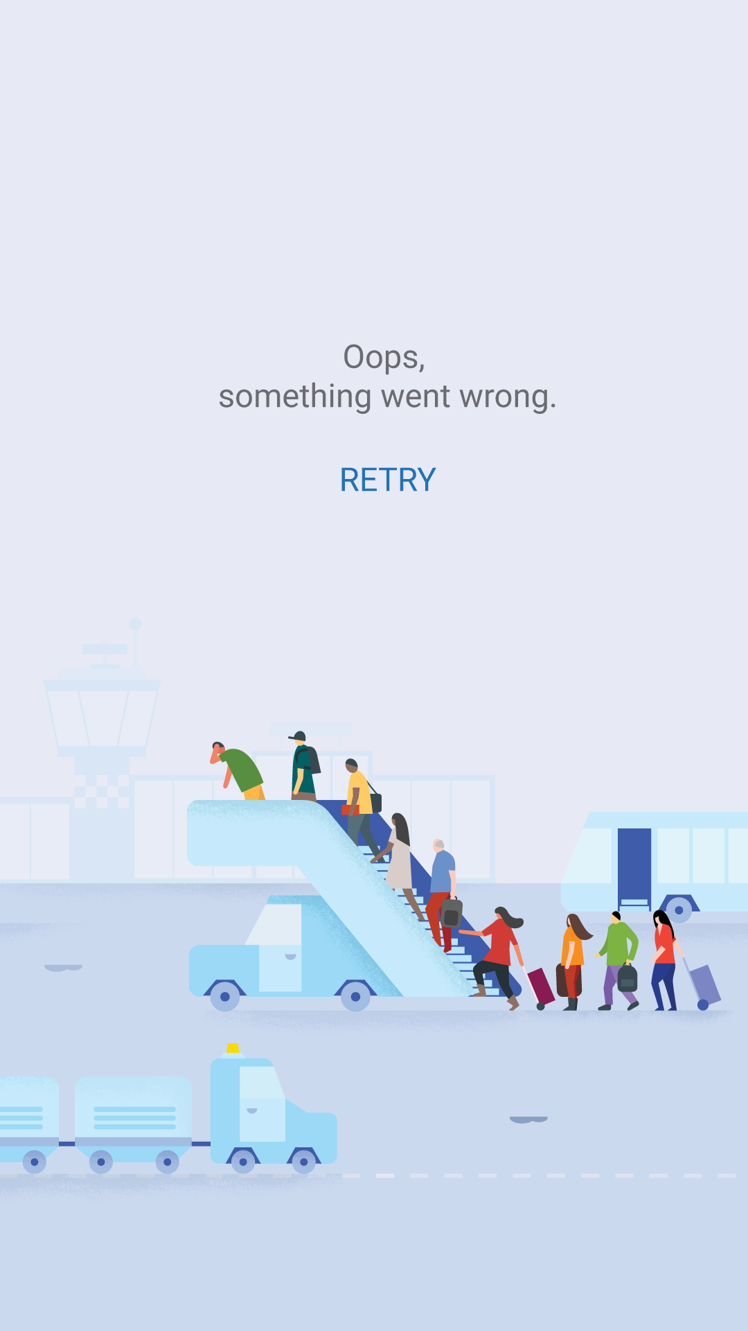 Flights error illustration portrait