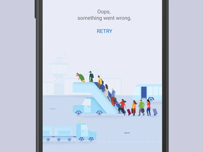 Flights error page material design illustration error page error flights flight google