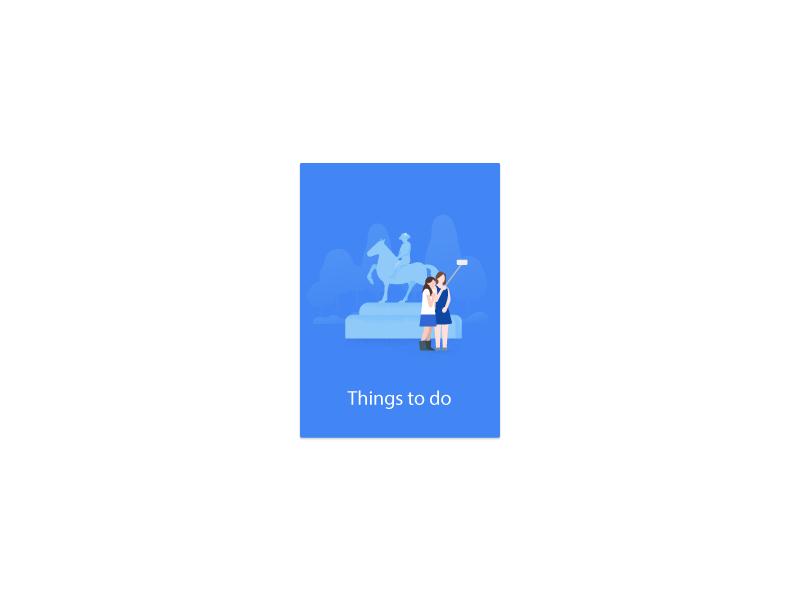 Things to do card, Google Trips by German Kopytkov on Dribbble