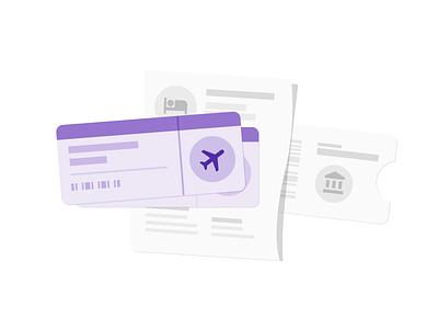 Reservations illustration rent car flight hotel reservations material design illustration travel google trips google