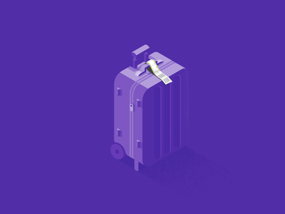 Purple suitcase airport luggage baggage suitcase travel