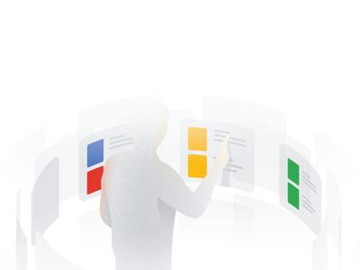 Google News dimensional google design google news ui news drawing editorial illustration illustration google