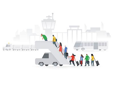 Oops, something went wrong, Google Flights error illustration airport error state error page white vector illustration drawing illustration google flights google