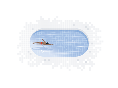 Swimmer summer swimmer swim pool vector drawing illustration