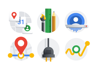 Google account icon set