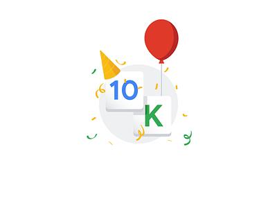 10k followers party celebration milestone illustrator illustration thank you followers 10k 10000