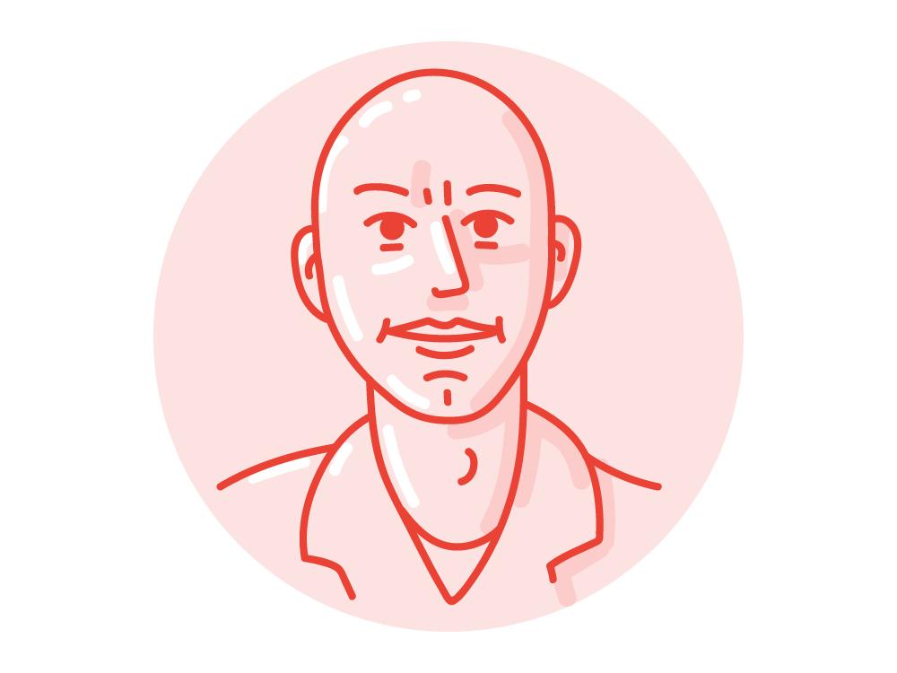 Stefan's avatar line art vector art face profile avatar drawing caricature selfportrait portrait illustration