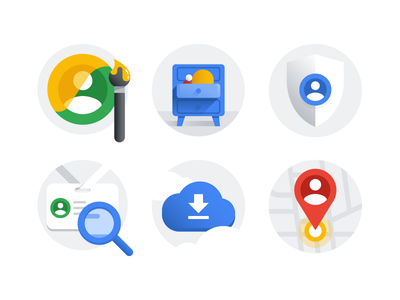 Google Account illustration set privacy account drawing ui icon google illustration