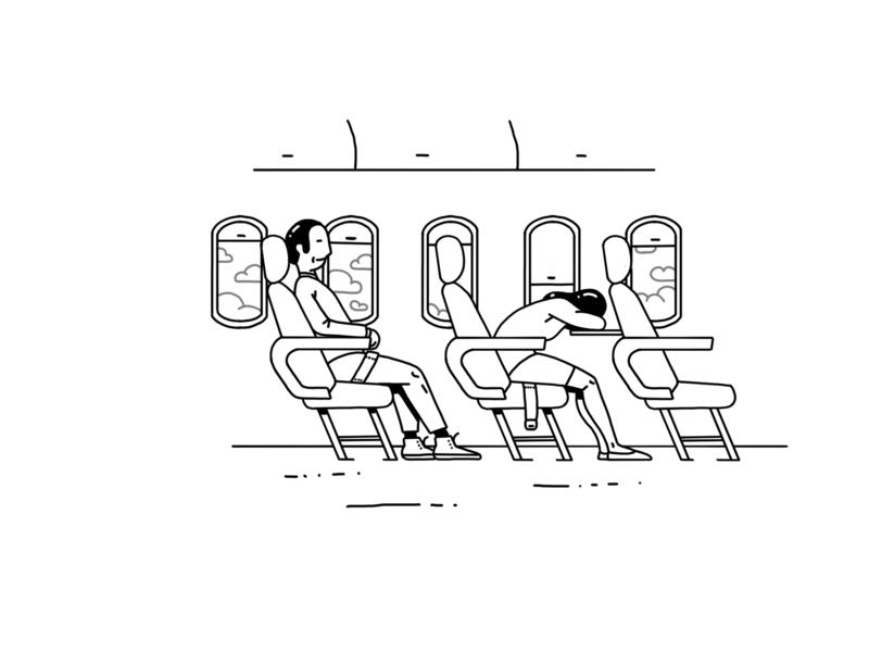 Flight Stats flight design vector drawing travel illustration