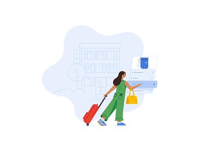 Google Hotels building ui booking google design illustration travel hotel hotels google