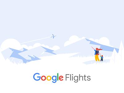 Google Travel google flights flights material illustration google travel