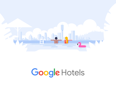 Google Hotels branding vector ui design hotel drawing material design travel google illustration