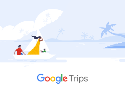 Google Trips branding ui drawing vector hotel google trips material design travel google illustration