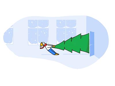 Christmas winter christmas tree tree christmas holiday procreate sketch drawing illustration