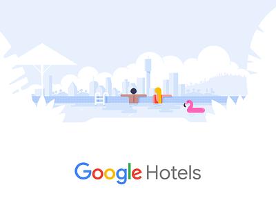 Google Travel traveling branding design vector hotel google trips drawing material design travel google illustration