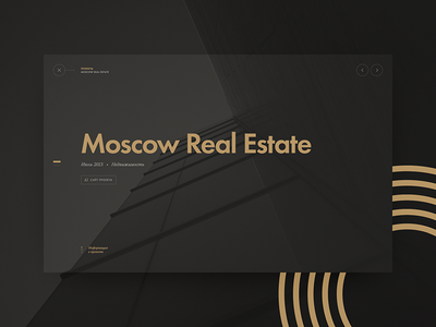 KSP Capital gold black dark minimal estate building typography ui ksp