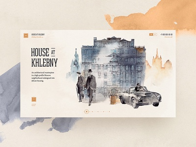 House at Khlebny house illustration watercolor luxury property realty khlebny