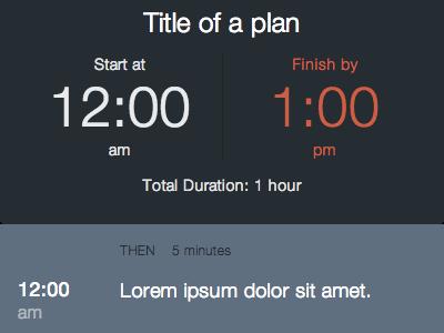 Tiny plan