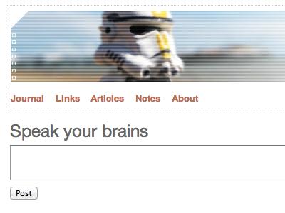 Speak your brains adactio form