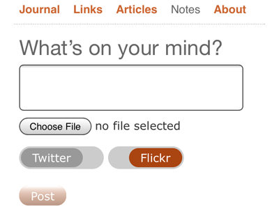 Checkboxes (mobile) checkbox slider form mobile adactio posse indieweb interface ui
