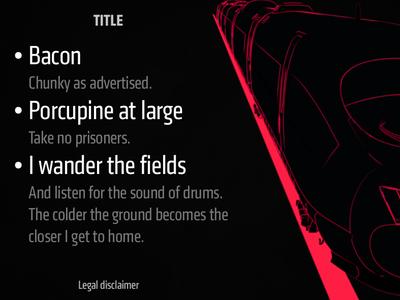 Slide Template klavika