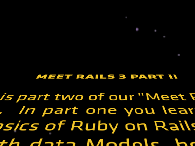 Rails 3 Part II