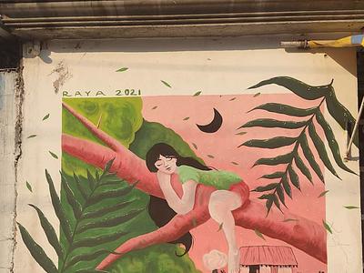 Un árbol de Guayabas streetart muralist art