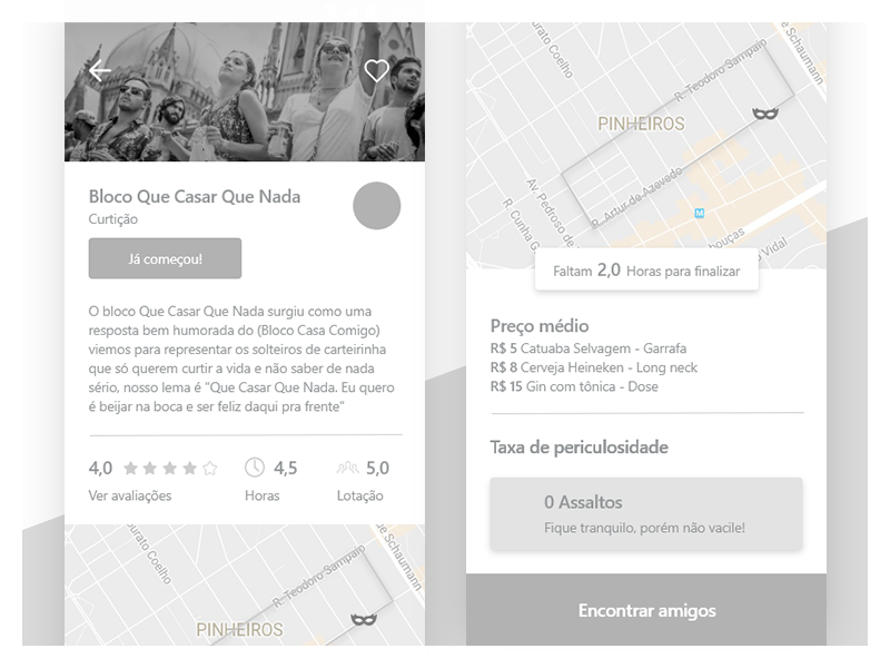 Carnaval App - Product Page