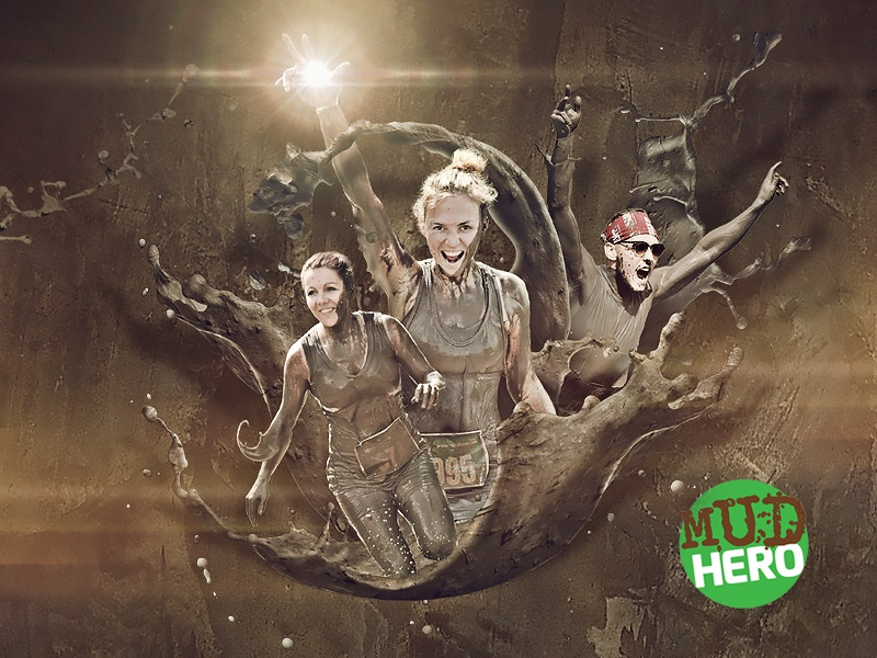 Mud Hero Ads mud hero photoshop photomanipulation actions toronto poster effects splash advertising concept