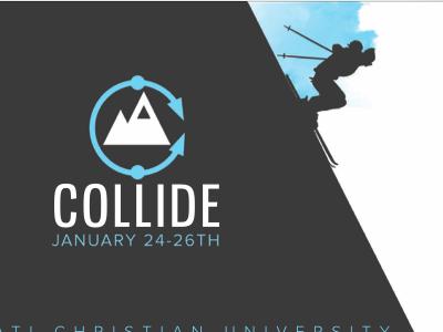 Ski Retreat  logo mountain collide ski