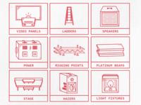 Audio/Visual icons