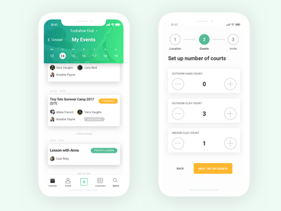 Debut - Tennis court booking app usability testing app design wireframing user journey mockup user interface ux design agency mobile app ios debut ux ui