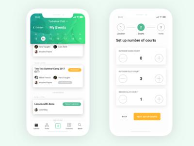 Debut - Tennis court booking app usability testing app design wireframing user journey mockup user interface ux design agency mobile app ios debut ux ui