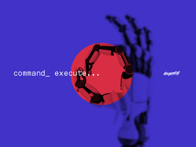 CMD EXECUTE. Project Phase 001 wireframe robotics logo branding ux ui design