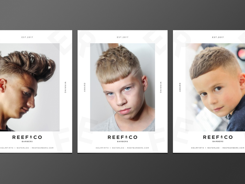 Reef & Co - Posters fashion beauty hairsalon poster brand identity creative design identity brand typography branding