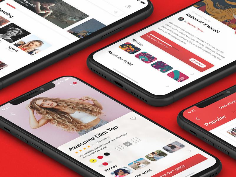 E-Commerce App Concept girls clothes pakistan white space ux design ui reduce white bold cause apparel iphone ios minimal concept app ecommerce