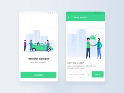 Illustrated App Screens