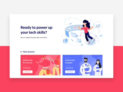 Illustrated Educational Website