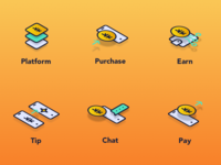 Icons for new crypto currency